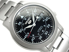 NEW MEN'S SEIKO 5 - 21 JEWEL MILITARY AUTOMATIC ANALOG WATCH SNK809K1