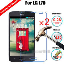 2Pcs Premium Real Tempered Glass Film Screen Protector for LG Optimus L70 D320