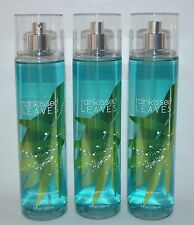 3 BATH & BODY WORKS RAINKISSED LEAVES FINE FRAGRANCE MIST SPRAY SPLASH 8OZ LARGE