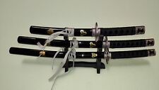 Mini Sword One Set Three Kill Bill Sword With Stand For Display Letter Opener