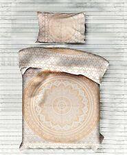Bedding Twin Size Duvet Cover Gold Color Flower Ombre Mandala Cotton Indian Art