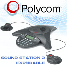 Polycom SoundStation2 Ex Conference Phone  + 2 X Mic Expandable Genuine