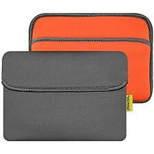 AMZER 8inch Reversible Neoprene Horizontal Sleeve Pocket Slate Grey/Burnt Orange