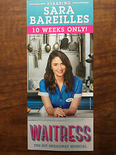 Waitress ad/flyer Broadway NYC for Sara Bareilles in the musical