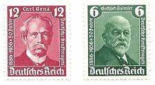 1936 Nazi Era Daimler and Benz Portrait Stamps Berlin Motor Show
