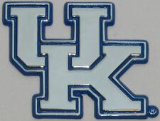 "Kentucky Wildcats Chrome Metal Auto Emblem (Blue ""UK"") NCAA Licensed"