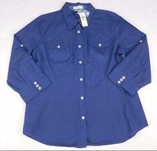 WOMENS blue dress BLOUSE SHIRT top = VAN HEUSEN = NEW $48 = SIZE LARGE = KN59