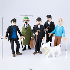 6PCs/set Anime Cartoon The Adventures of Tintin Action Figures Toys Kids