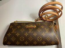 Authentic Louis Vuitton Eva Clutch Monogram Bag Shoulder Chain