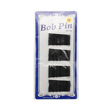 60 Invisible Flat Hair Clips Flat Top Bobby Pins Grips Salon Black Barrette Kits