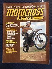 MOTOCROSS ACTION NOVEMBER 1973 VOL 1 NO. 5 YZ360 SUPERBOWL OF MX VMX VINTAGE