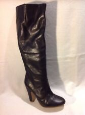 Aldo Black Knee High Leather Boots Size 36