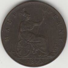 More details for 1893 victoria halfpenny coin   british coins   pennies2pounds