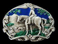 WESTERN COWBOYS HORSE BELT BUCKLE FARWEST EQUESTRIAN COOL BOUCLE DE CEINTURE