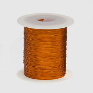 "28 AWG Gauge Enameled Copper Magnet Wire 4 oz 497' Length 0.0142"" 200C Natural"