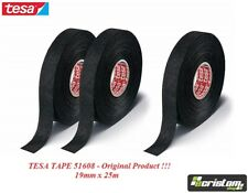3 x TESA TAPE 51608 CABLE ROLL ADHESIVE CLOTH FABRIC WIRING HARNESS 19mm x 25m