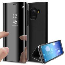 Coque Etui Housse pour Samsung Galaxy A8 2018 Clear View À Rabat Cover Flip...