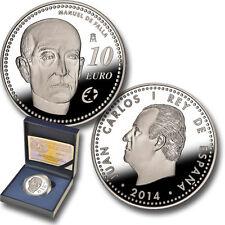 ESPAÑA 10 euros plata 2014 Manuel de Falla una de las monedas mas feas del mundo