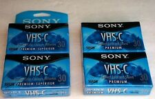 SONY VHS-C Premium 30 min NEW Sealed In Pack of Two with Total of 4 Tape Lot