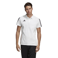 adidas Three Stripe White / Black Polo Shirt Men's XL