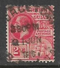 BRITISH GUIANA - KGV ERA USED DEFINITIVE STAMP 1913 KGV & SEAL OF COLONY 2c