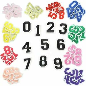 Number Patch Patches College Iron-On / Sew-On Retro Alphabet Embroidery Clothes