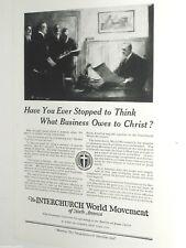 1920 Interchurch World Movement advertisement page, Protestant Churches
