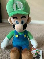 "Super Mario Bros Luigi 15"" Plush New Nintendo Luigi's Mansion AllStar Collection"