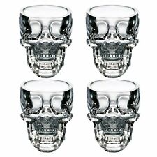 Shot Glass Skull Head Crystal Cup Mug Vodka Whisky Bar Party Drink Gift Set 4 3D