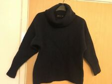 Ladies RALPH LAUREN 91% Merino Wool Polo Neck Jumper Small S