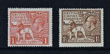 KGV, 1924, British Empire Exhibition, set of 2 stamps, LMM, Cat £30.
