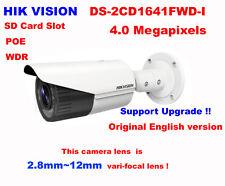 Hikvision Original DS-2CD1641FWD-I 4MP POE IP IR Network outdoor 2.8~12mm Camera