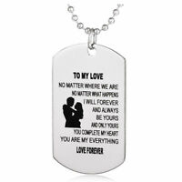 Husband Wife Love Jewelry Military Chains Air Force Pendants Dog Tag Necklace FO