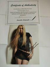 Avril Lavigne 10 x 8 hand Signed Photo - Includes COA