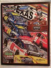 Super Rare 2008 NASCAR Samsung 500 Program - Dallas, Texas, Earnhardt, Gordon