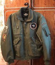 Harley Davidson Men's HDMC  Bomber Jacket  Military Collection size XL