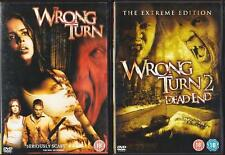 WRONG TURN 1 & 2 [One,Two] DEAD END Extreme Violent Teen Slasher Horror DVD *EXC