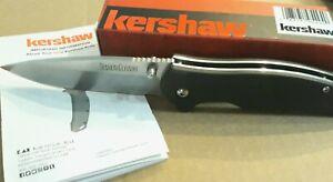 "Kershaw Bowser Linerlock Folding Knife 3.25"" 8Cr13MoV Steel Blade GFN Handle"
