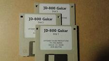 KURZWEIL ~ JD-800 GUITAR  ~ Native KRZ ~ VAST PROGRAMS  ~ 3 DISK SET!!!!!