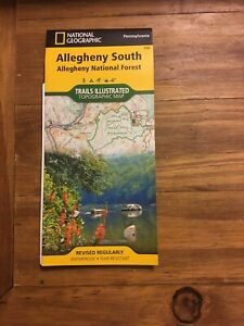 National Geographic Trails Illustrated Topographic Map Allegheny National Forest