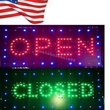 �Us】2in1 Open&Closed Led Sign Store Shop Business Display Neon Light 9.8*20.47""