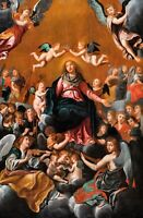 Huge 17th Century Italian Old Master Coronation Of The Virgin Madonna Guido RENI