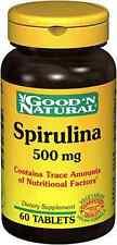 good'n natural Spirulina 500mg 60 tabs
