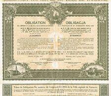 POLAND WARSAW 4 1/2 % BOND OF 1931 stock certificate 99 ZLOTYCH