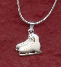 Ice Skate Boots Necklace New Ice Skating Charm Pendant and Chain skater jewelry