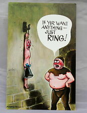 Vintage 1970s Bamforth Comic Postcard Series No 2035 Naked Man Torture Chamber
