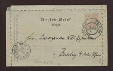 CZECHOSLOVAKIA MORAVIA 1897 STATIONERY LETTERCARD ZNOJMO to BENSBERG + MESSAGE