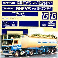 Volvo GHEYS Transport Mol Belgique (B) 1:87 camion autocollant décalcomanie