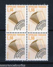 PRÉOBLITÉRÉS - 1990 YT 214 - bloc de 4 - TIMBRES NEUFS** LUXE