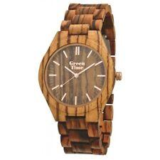 GreenTime ZW021C legno zebrano, zebrawood watch, Zebranoholzuhr, Montre zebrano